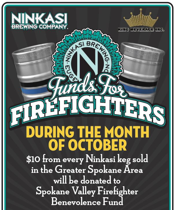 "Ninkasi Brewing Company & King Beverage Inc. Launch ""Funds for Firefighters"""