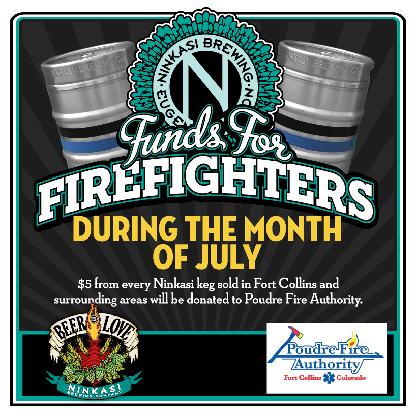 "Ninkasi Brewing Company and C.R. Goodman Launch ""Funds for Firefighters"""