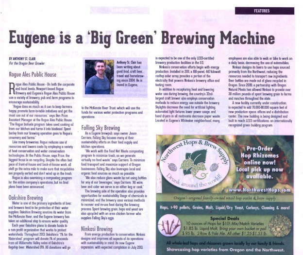 Oregon Beer Growler: Eugene is a Big Green Brewing Machine